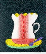 草間彌生「コーヒーカップ」版画52.7×45.2cm