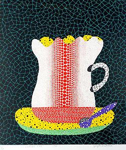 草間彌生「コーヒーカップ」版画