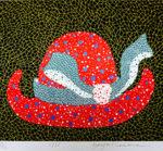 草間彌生「帽子」1986年 版画46×53.5cm