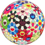 村上隆「フラワーボール ブラッド(3-D)V」版画71×71cm