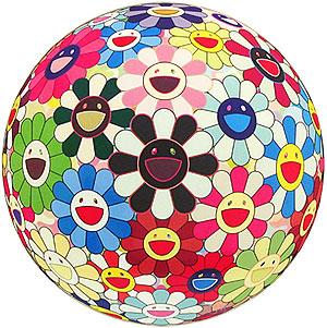 村上隆「フラワーボール ブラッド(3-D)V」版画