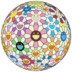 村上隆「フラワーボール(3D)コスモス」版画71×71cm