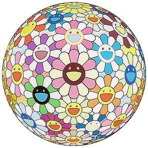 村上隆「フラワーボール(3D)コスモス」版画