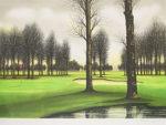 ジャック・デペルト「ゴルフ場」版画45.5×65.5cm