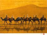 平山郁夫「シルクロードを行く」版画44×60.7cm