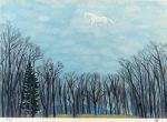 東山魁夷「綿雲」版画37.3×53.1cm