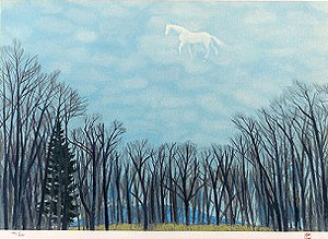 東山魁夷「綿雲」版画