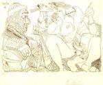 パブロ・ピカソ「347シリーズ #1791」銅版画14.7×20.8cm