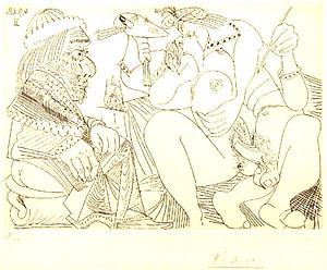 パブロ・ピカソ「347シリーズ #1791」銅版画