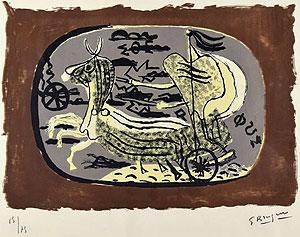 ジョルジュ・ブラック「二輪戦車」版画