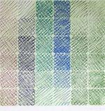 百瀬寿「Burgundy to Green on Green」版画100×100cm