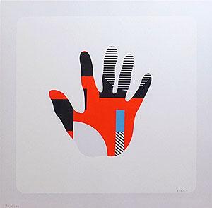 菅井汲「手」版画