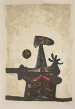 ルフィーノ・タマヨ「男と月と星」版画56.5×38cm