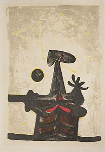 ルフィーノ・タマヨ「男と月と星」版画