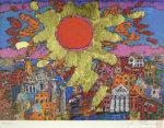 絹谷幸二「黄金光旭光 ヴェネツィア」版画33.5×54cm