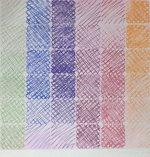 百瀬寿「Green to Orange on Rose」版画100×100cm