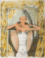 ルフィーノ・タマヨ「女性のトルソ」版画69×53cm