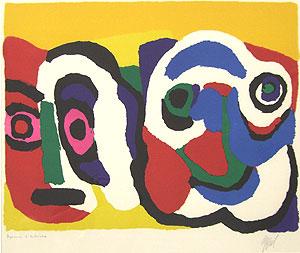カレル・アペル「2つの顔」版画