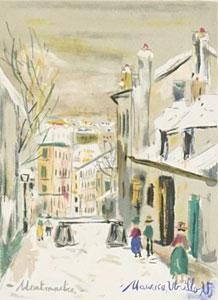 モーリス・ユトリロ「街の眺め」版画