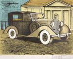 ベルナール・ビュッフェ「灰色のロールスロイス 1937」版画50×65cm