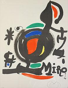 ジョアン・ミロ「土の精髄展ポスター」版画