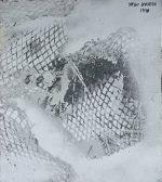 草間彌生「梢をわたる風」3号色紙にエナメル 1978年