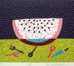 草間彌生「西瓜」版画46×53.5cm