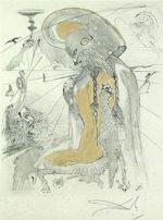 サルバドール・ダリ「アテナ」銅版画52.5×42cm