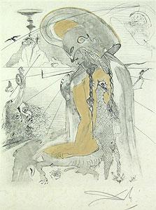 サルバドール・ダリ「アテナ」銅版画