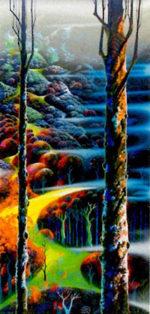アイベン・アール「タッチ オブ オータム」版画97.5×48.5cm