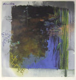 トレンツ・リャド「ベルヴェデーレの睡蓮」版画71×71cm