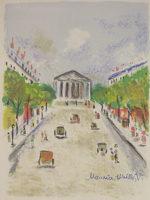 モーリス・ユトリロ「ロワイヤル通り」版画32.2×23.5cm