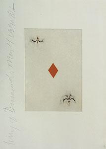 ドナルド・サルタン「ダイヤのエース」銅版画