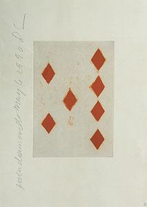 ドナルド・サルタン「ダイヤの7」銅版画