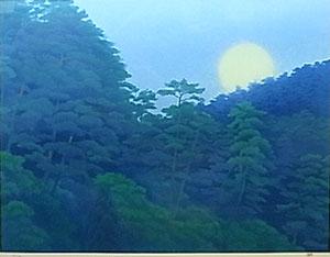 東山魁夷「月の出」版画