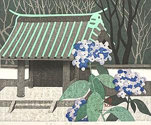 斎藤清「英勝寺・鎌倉」木版画
