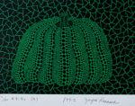 草間彌生「カボチャ(G)」版画15.6×22.5cm