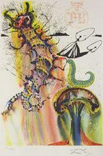 サルバドール・ダリ「いもむしの忠告」版画58.5×40cm