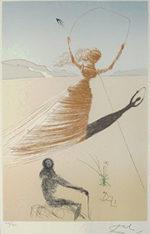 サルバドール・ダリ「不思議の国のアリス口絵」版画58.5×40cm