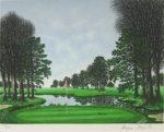 ジャック・デペルト「ベルリーグゴルフ場」版画30×38cm