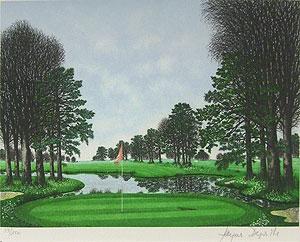 ジャック・デペルト「ベルリーグゴルフ場」版画