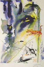 サルバドール・ダリ「コーカス・レースと長いお話」版画58.5×40cm