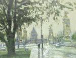 三宅輝夫「雨のアンバリット」油彩12号