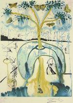 サルバドール・ダリ「気狂いお茶会」版画58.5×40cm