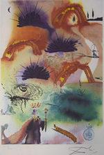 サルバドール・ダリ「ロブスターのカドリール」版画58.5×40cm