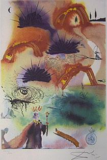 サルバドール・ダリ「ロブスターのカドリール」版画