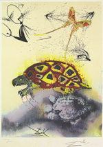 サルバドール・ダリ「偽のウミガメの話」版画58.5×40cm