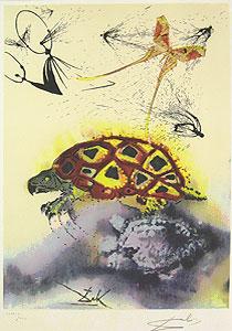 サルバドール・ダリ「偽のウミガメの話」版画