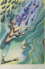 サルバドール・ダリ「涙の海」版画58.5×40cm