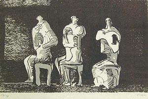 ヘンリー・ムーア「3つの座る像」版画